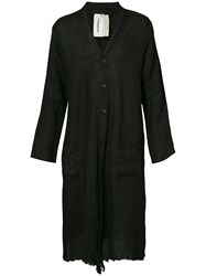 Horisaki Design And Handel Long Buttoned Robe Black