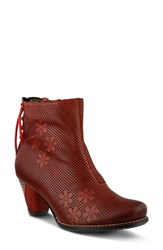 L Artiste Women's L'artiste Teca Bootie Red Leather