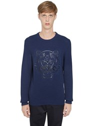 Kenzo Silicone Tiger On Cotton Knit Sweater