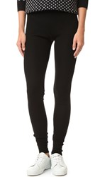 Alice Olivia Ronnie Ribbed Leggings Black