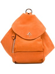 Manu Atelier Micro Fernweh Backpack Yellow And Orange