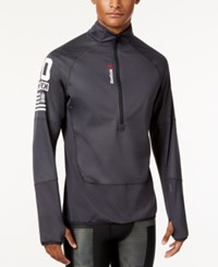 Reebok Men's Hexawarm Half Zip Jacket Coal