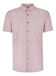 Topman Red White Short Sleeve Printed Casual Shirt