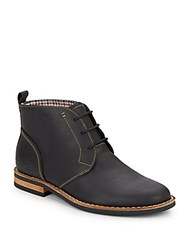 Original Penguin Merle Leather Lace Up Boots Black