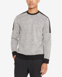 Kenneth Cole Reaction Men's Colorblocked Textured Sweatshirt Black