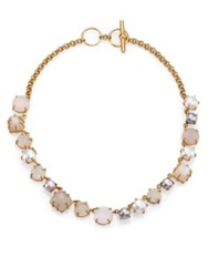 Kelly Wearstler Azalea 9Mm 10Mm Multicolor Round Pearl Druzy And Moonstone Necklace Gold