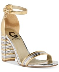 G By Guess Shaker Dress Sandals Women's Shoes Gold