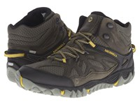 Merrell All Out Blaze Vent Mid Waterproof Olive Men's Shoes