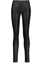 Maison Martin Margiela Leather Skinny Pants Black