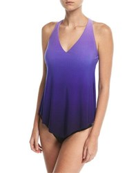 Magicsuit Taylor V Neck Ombre Tankini Swim Top Purple