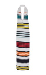 Rosie Assoulin Rainbow Striped Sweater Dress