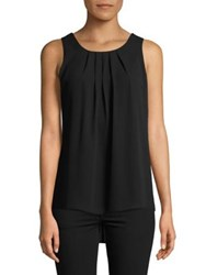 Context Pleated Sleeveless Top Black