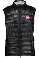 Canada Goose Hybridge Lite Jersey Paneled Quilted Shell Down Vest Black