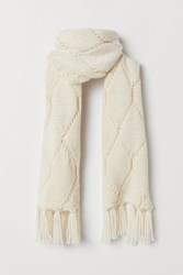 Handm H M Cable Knit Scarf White