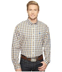 Cinch Long Sleeve Plain Weave Plaid Multicolored Men's Clothing