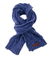 Pepe Jeans Cable Knit Scarf Blue