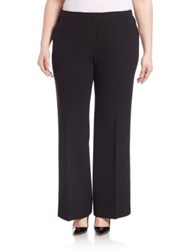 Lafayette 148 New York Crepe Kenmare Flared Pants Black