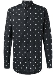 Dolce And Gabbana Bee Print Shirt Black