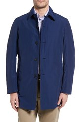 Sanyo Men's Austin Cotton Blend Raincoat Royal Blue
