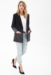 Forever 21 Faux Leather Trimmed Coat
