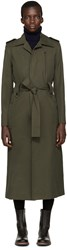 Each X Other Green Military Trench Coat