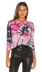 Central Park West Melbourne Pullover Sweater In Pink Gray Blue. Pink And Ivory