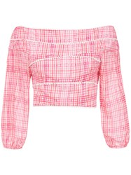 Olympiah Printed Riva Cropped Top Pink