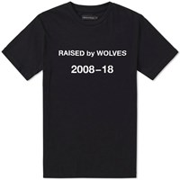 Raised By Wolves Decade Tee Black