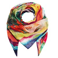 Klements Square Scarf In Magma Print