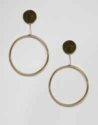 Made Gold Circle Disc Earrings