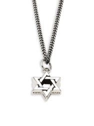 King Baby Studio 0.925 Sterling Silver Large Star Of David Pendant Necklace