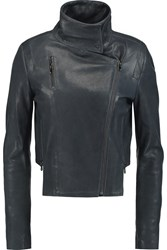 J Brand Connix Leather Biker Jacket Blue