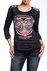 Affliction Sinful Queenie Rae Long Sleeve Shirt Black