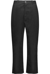 Oak Cotton Twill Pants Black