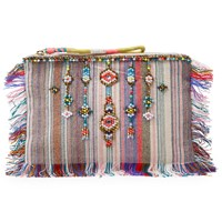 And Or Avalon Beaded Stripe Clutch Bag Multi