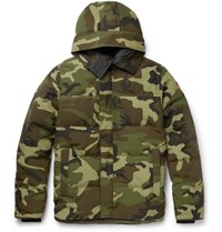 Canada Goose Macmillan Slim Fit Camouflage Print Quilted Shell Hooded Down Parka Green
