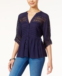 American Rag Lace Babydoll Top Only At Macy's Total Eclipse