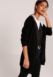 Missguided Slouchy Basic Pocket Cardigan Black Black