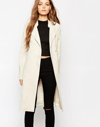 Noisy May Long Trench Coat Oatmeal