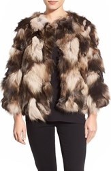 Women's Jocelyn Tie Dye Genuine Fox Fur Bolero Jacket