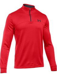 Under Armour Men's Fleece 1 4 Zip Jumper Red