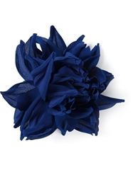 Erika Cavallini Semi Couture Flower Brooch Blue