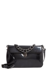 Sole Society Ladan Faux Leather Top Handle Satchel Black