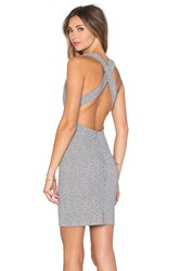Lanston Cross Back Mini Dress Gray