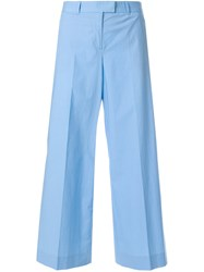 Moschino Vintage Wide Legged Cropped Trousers Blue