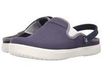 Crocs Citilane Canvas Clog Navy White Clog Shoes Blue