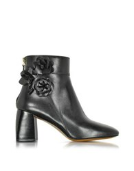 Tory Burch Blossom Black Leather Bootie