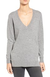 Ag Jeans Women's 'Luna' V Neck Merino And Cashmere Tunic Sweater