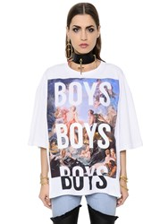 Fausto Puglisi Oversized Printed Cotton Jersey T Shirt
