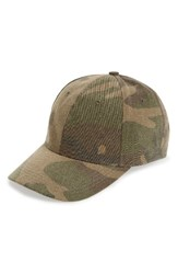 Amici Accessories Women's Camo Print Canvas Ball Cap